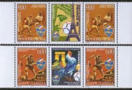 Yugoslavia, 1998, Football World Cup - France, Stamp-vignette-stamp, MNH (**) - 1992-2003 Federal Republic Of Yugoslavia