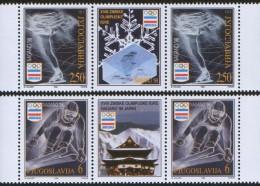 Yugoslavia, 1998, Winter Olympics - Nagano, Japan, Stamp-vignette-stamp, MNH (**) - 1992-2003 Federal Republic Of Yugoslavia