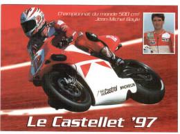 CPM MOTO CHAMPIONNAT DU MONDE 500 CM3 JEAN MICHEL BAYLE LE CASTELLET 1997 - Moto