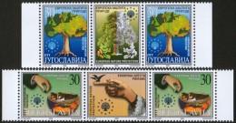 Yugoslavia, 2000, European Nature Protection, Stamp-Vignette-stamp, MNH (**) - 1992-2003 Federal Republic Of Yugoslavia