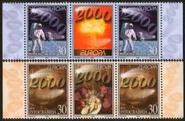 Yugoslavia, 2000, Europa, Stamp-Vignette-stamp, MNH (**) - 1992-2003 Federal Republic Of Yugoslavia