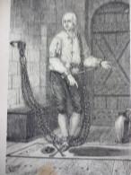 Le Baron Frédérick De Trenk , Dans Son Cachot A Magdebourg , Gravure Sur Bois D'aprés Dessin De Cagniet 1846 Avec Texte - Documentos Históricos