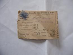 FATTURA ACQUA POTABILE IN SEVESO S.PIETRO 1929 - Italia