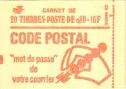 FRANCE - Carnet 0f80 Béquet Rouge Avec Phosphore - N° Y&T 1816 C3 Ou N° Maury 397 - Conf. 8, Date 5.22.4.75, Ouvert - Carnets