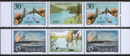 Yugoslavia, 2001, The Danube Commission, Stamp-vignette-stamp, MNH (**) - 1992-2003 Federal Republic Of Yugoslavia