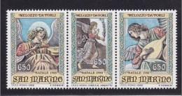 1988 San Marino Saint Marin NATALE  CHRISTMAS  Serie Di 3v. (Trittico) Triptych - Natale