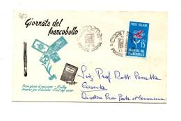 Fb487 - ITALIA  1963  , FDC GIORNATA FRANCOBOLLO A.f. ROMA - 6. 1946-.. Repubblica