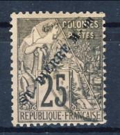 S. Pierre Et Miquelon 1891 N. 25 C. 25 Nero E Rosa, Sovrastampa Obliqua USATO Catalogo € 40 - St.Pierre & Miquelon