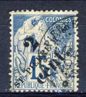 S. Pierre Et Miquelon 1891-92 N. 39 C. 2 Su C. 15 Azzurro Sovrastampato Usato Catalogo € 15 - St.Pierre & Miquelon
