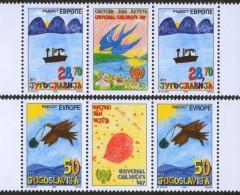 Yugoslavia, 2002, Joy Of Europe, Stamp-vignette-stamp, MNH (**) - 1992-2003 Federal Republic Of Yugoslavia