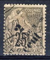 S. Pierre Et Miquelon 1891-92 N. 40 C. 2 Su C. 25 Nero E Rosa Sovrastampato USATO Catalogo € 12 - St.Pierre & Miquelon