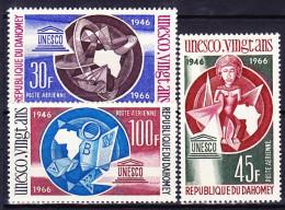 BENIN - DAHOMEY POSTE AERIENNE 1966 YT N° PA 47 à 49 ** - Bénin – Dahomey (1960-...)