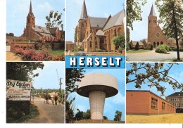 Belgium Groeten Uit Herselt (Turnhout)-Multivues- Multiviews-Kerk-Church-Eglise-Dry Eycken - Herselt