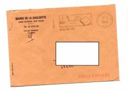Lettre Flamme Nogent Cite Avenie Entete Mairie Saulsotte - Marcophilie (Lettres)