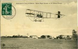 Aérodrome Du Camp De Chalon Biplan Roger Sommer Au Vol (moteur Gnome) - Other