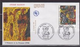 """= """"La Pythie"""" Par André Masson Enveloppe 1er Jour Paris 13.10.84 N°2342 - 1980-1989"""