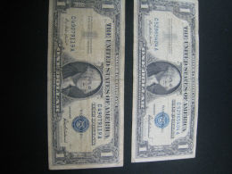 $1 SILVER CERTIFICATE  1957 SERIES  SET OF 2   (4K50-8) - Certificats D'Argent (1928-1957)