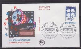 = La Francophonie Entendre Parler Français Enveloppe 1er Jour Paris 15.1.85 N°2347 Egaux Différents Unis - 1980-1989