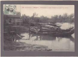 Cochinchine - Saigon - Sampaniers Et Leurs Sampans Au Bord D'un Arroyo - Voir Etat - Cartes Postales