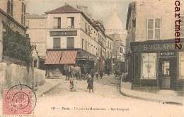 PARIS MONTMARTRE UN COIN DE MONTMARTRE RUE RAVIGNAN 75018 - Distrito: 18