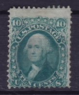 United States 1861 Mi. 20W  10 C. George Washington  Mit Waffel W. Grill Perf. 12, MNG Cote 2400 € !! (2 Scans) - Ungebraucht