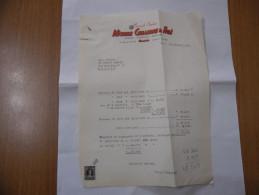 FATTURA PREMIATE CANTINE MICHELE CELLAMARE E FIGLI   MILANO 1963 - Italia