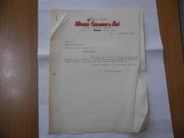 FATTURA PREMIATE CANTINE MICHELE CELLAMARE E FIGLI   MILANO 1960 - Italia