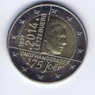 Lussemburgo - 2 Euro Commemorativo 2014 - Indipendenza - Lussemburgo
