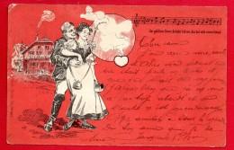 Auberge Zum Gold'nen Kreuz.  Poème De Friedrich Konrad Von Der Werra. Ragaz-Carentec 1902 - Koppels