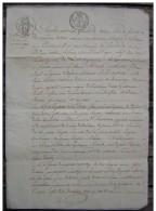 Agen 1825 Mariage De Guillaume Ricard Et Elisabeth Barre (cachets) Généalogie - Manuscrits