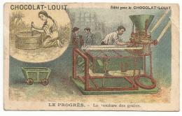 CHROMOS CHOCOLAT LOUIT - LE PROGRES - LA MOUTURE DES GRAINS. - Louit