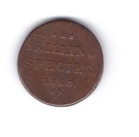 Pièce De Monnaie Norvégienne I SKILLING SPECIES 1820 Couronne Armoirie - Norway
