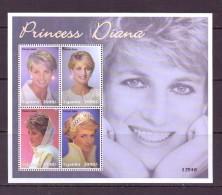 OUGANDA-UGANDA  2002 DIANA    YVERT N°2083/86  NEUF MNH** - Royalties, Royals