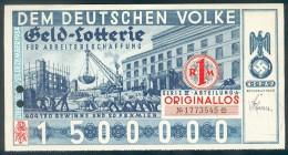 """Deutschland, Germany - """" DEM DEUTSCHEN VOLKE """", GELDLOTTERIE, FOTO & DOKUMENT Der NSDAP, 1934 ! - [ 4] 1933-1945: Derde Rijk"""