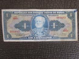 BILLET DE BANQUE BANK REPOBLICA DOS ESTADOS UNIDOS DO BRASIL UM CRUZEIRO ESCOLA NAVAL - Brasil