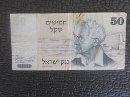 1978 BILLET DE BANQUE BANK ISRAEL 50 SHEQUELS ILLUSTRATIONS DAVID BEN GOURION-- JERUSALEM - Israel
