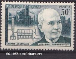 FRANCE  ANNEE 1956 N° 1058  NEUF  CHARNIERE - France