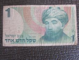 1986 BILLET DE BANQUE BANK OF ISRAEL 1 NEW SHEQUELS JERUSALEM..DAVID BEN GOURION - Israel