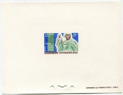 CENTRAFRIQUE EPREUVE DE LUXE DU N°51  25F. VETIR MOUVEMENT D´EVOLUTION SOCIALE EN AFRIQUE NOIRE - Centrafricaine (République)