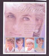 OUGANDA-UGANDA  2002 DIANA  YVERT N°2091/94  NEUF MNH** - Royalties, Royals
