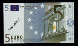 """5 Euro POLYMER Note """"DAL NEGRO"""" Billet Scolaire, Educativ, Size 110 X 63, RRRRR, UNC Extrem Scarce!! - Italien"""