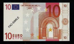 """10 Euro POLYMER Note """"DAL NEGRO"""" Billet Scolaire, Educativ, Size 110 X 63, RRRRR, UNC Extrem Scarce!! - Italien"""