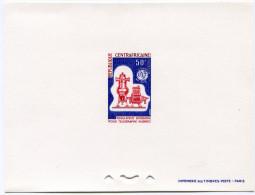 CENTRAFRIQUE EPREUVE DE LUXE DU N°49  50F. REGULATEUR DOIGNON POUR TELEGRAPHE HUGUES - Centrafricaine (République)