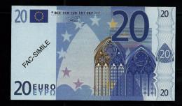 """20 Euro POLYMER Note """"DAL NEGRO"""" Billet Scolaire, Educativ, Size 110 X 63, RRRRR, UNC Extrem Scarce!! - Italien"""