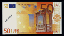 """50 Euro POLYMER Note """"DAL NEGRO"""" Billet Scolaire, Educativ, Size 140 X 78, RRRRR, UNC Extrem Scarce!! - Italien"""