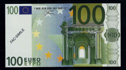 """100 Euro POLYMER Note """"DAL NEGRO"""" Billet Scolaire, Educativ, Size 140 X 78, RRRRR, UNC Extrem Scarce!! - Italien"""
