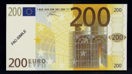 """200 Euro POLYMER Note """"DAL NEGRO"""" Billet Scolaire, Educativ, Size 140 X 78, RRRRR, UNC Extrem Scarce!! - Italien"""