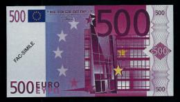 """500 Euro POLYMER Note """"DAL NEGRO"""" Billet Scolaire, Educativ, Size 140 X 78, RRRRR, UNC Extrem Scarce!! - Italien"""