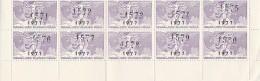 BLOC DE 10 VIGNETTES FEDERATION DES SOCIETES PHILATELIQUE FRANCAISE - ANNEE 1977 - Commemorative Labels