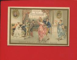 COMPAGNIE FRANCAISE JOLIE CHROMO DOREE ITALIE DANSE BAL GAVOTTE XVIII EME SIECLE - Chromos